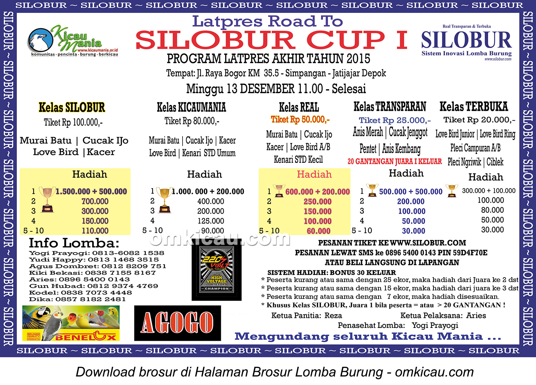 Brosur Latpres Base Camp KM - Road to Silobur Cup I, Depok, 13 Desember 2015