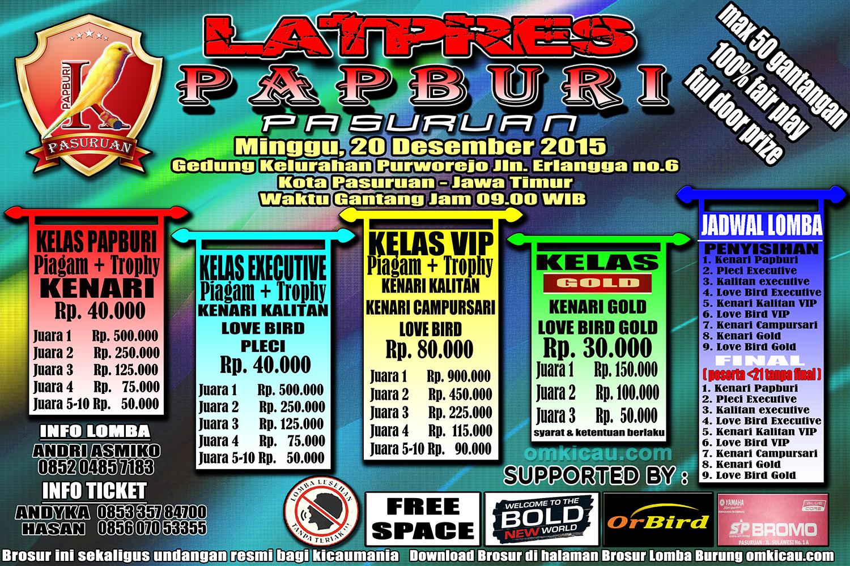 Brosur Latpres Papburi Pasuruan, 20 Desember 2015