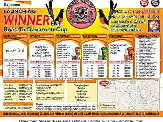 Brosur Lomba Burung Berkicau Launching Winner Enterprise, Tangerang Selatan, 17 Januari 2016