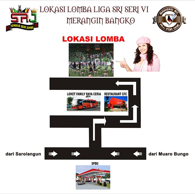 Denah lokasi lomba Liga SRJ Seri 6 di Bangko
