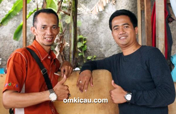 Om B Jo (kiri) dan Om Edy Prabowo