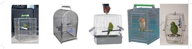Macam-macam model kandang untuk membawa burung / bird carrier