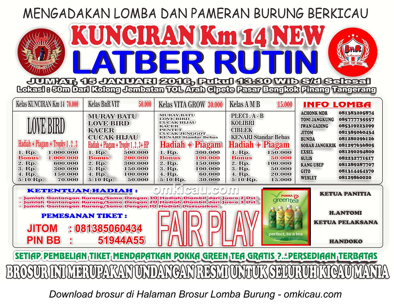 Brosur Latber Rutin Kunciran Km14 New, Tangerang, 15 Januari 2016