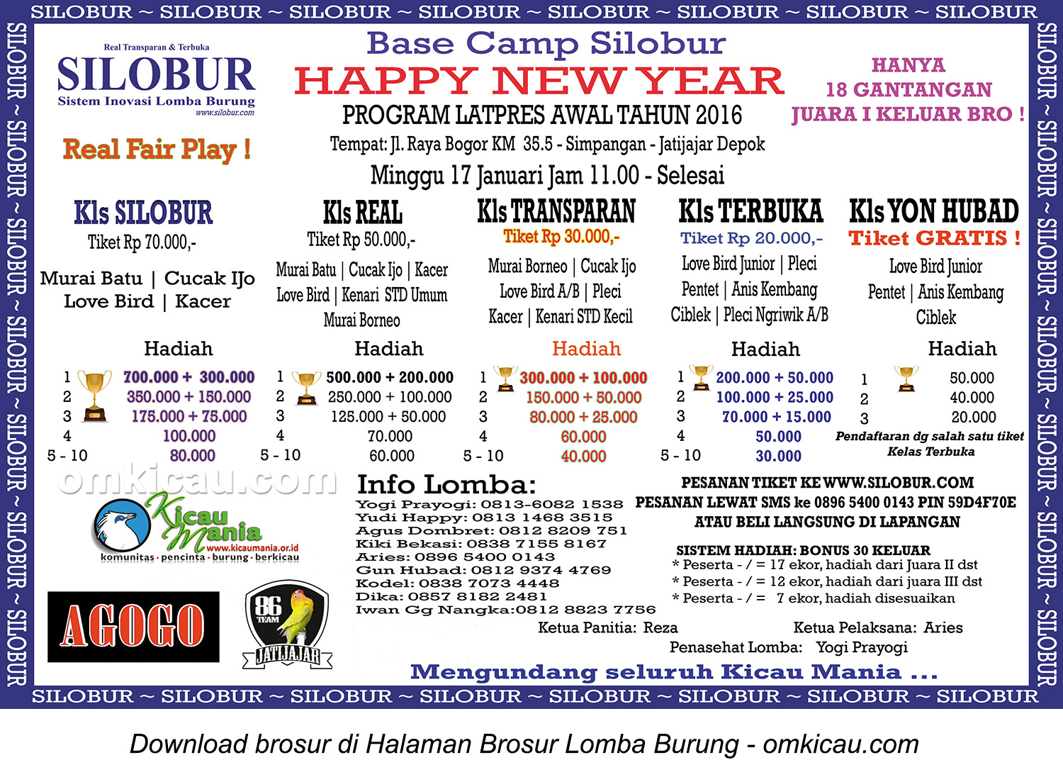 Brosur Latpres Base Camp Silobur Happy New Year, Depok, 17 Januari 2016