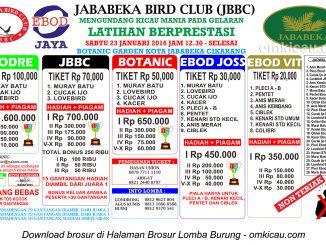 Brosur Latpres Jababeka Bird Club, Cikarang, 23 Januari 2016