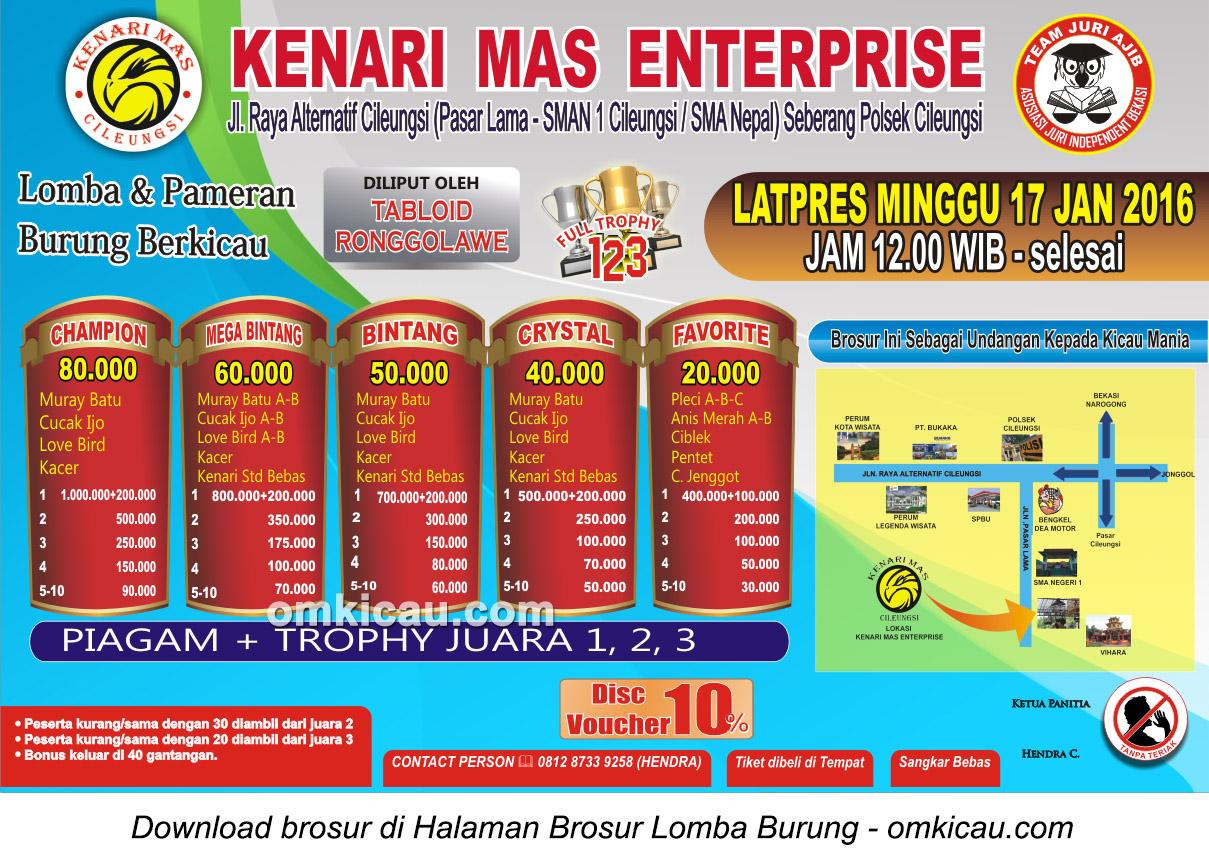 Brosur Latpres Kenari Mas Enterprise, Bogor, 17 Januari 2016