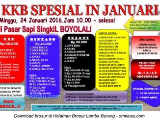 Brosur Latpres KKB Spesial in Januari, Boyolali, 24 Januari 2016