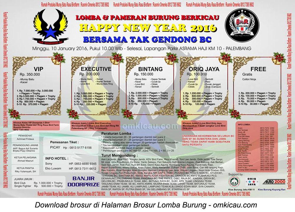 Happy New Year 2016 bersama Tak Gendong BC, Palembang, 10 Januari 2016