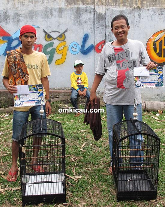 Juara 1 dan 2 kapas tembak Ebod Jaya