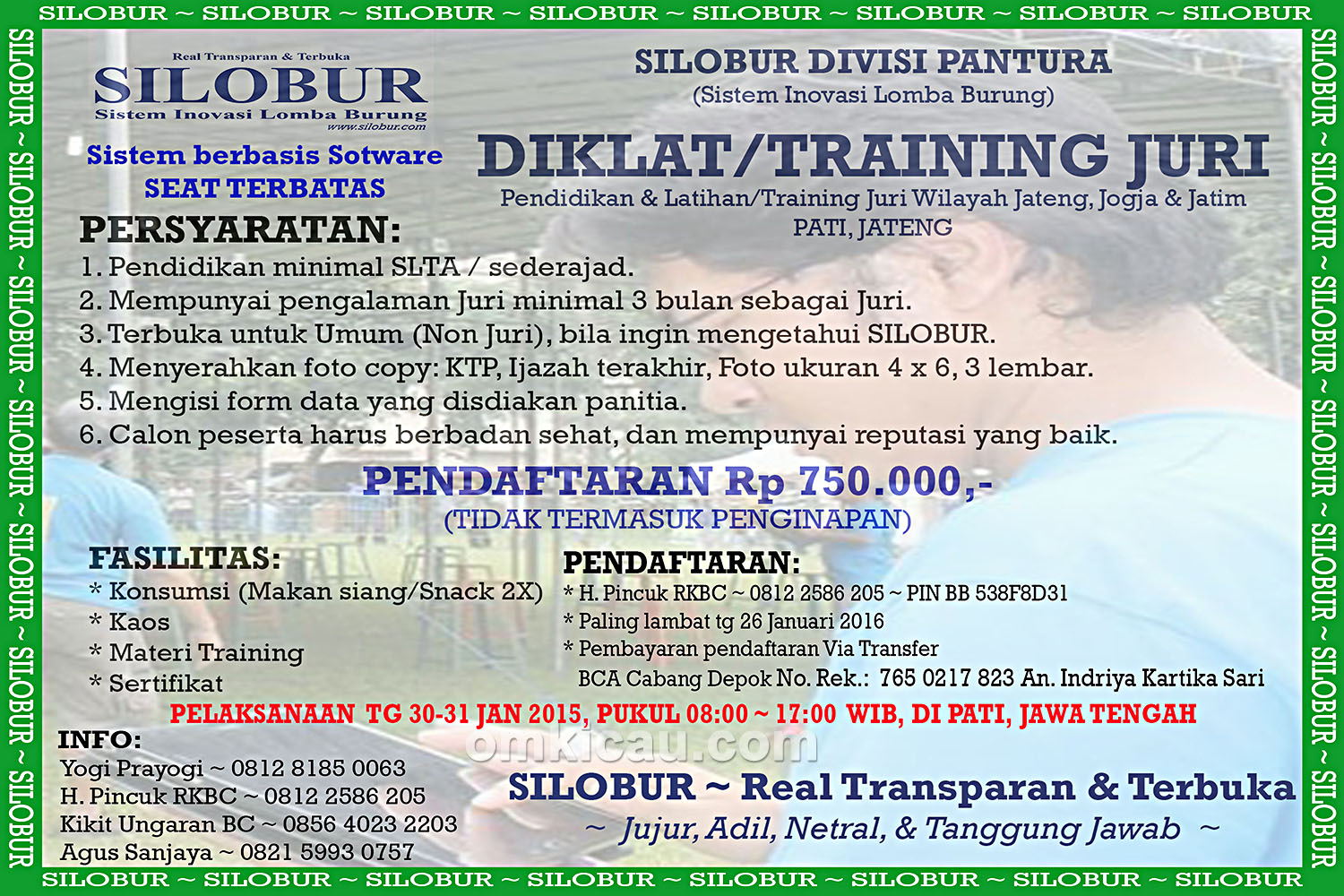 TRAINING JURI SILOBUR 2016