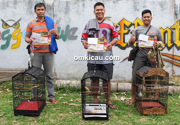 Juara 1-3 kenari Kelas Imlek