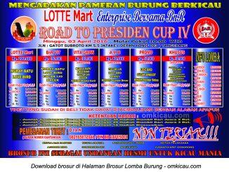 Lomba Burung Berkicau Lotte Mart - BnR, Road to Presiden Cup IV, Tangerang, 3 April 2016