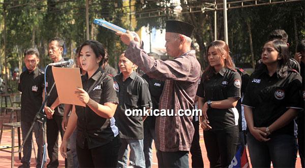 Soeharto Cup III - sumpah juri