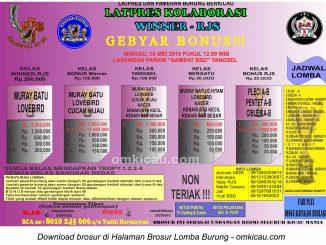 Brosur Latpres Kolaborasi Winner-RJS, Tangerang Selatan, 8 Mei 2016