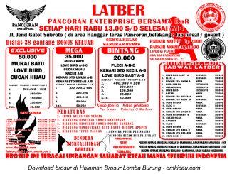Brosur Latber Pancoran Enterprise bersama BnR di Jakarta Selatan, setiap Rabu jam 13