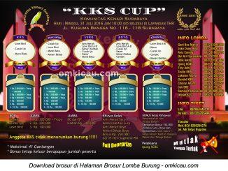 Brosur Revisi Lomba Burung Berkicau KKS Cup, Surabaya, 31 Juli 2016