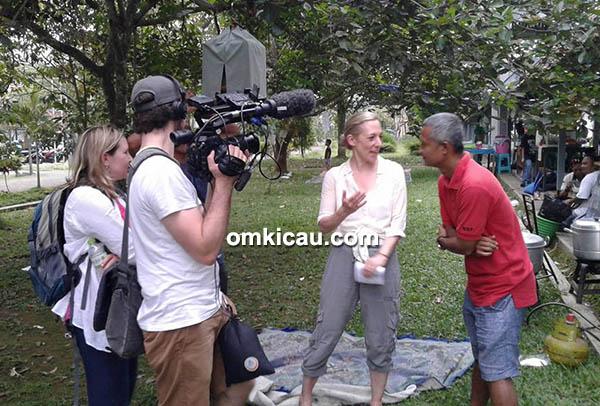 H Sigit WMP diwawancarai reporter TV Kanada