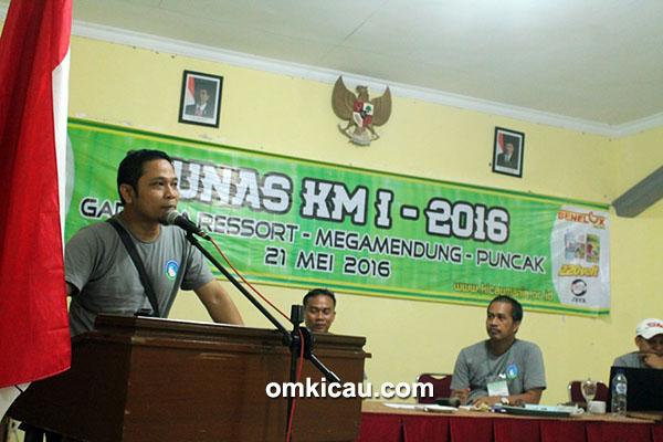 Om Ridho, ketua umum KM periode 2016-2018