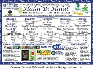 Brosur Latpres Halal Bihalal Silobur, Depok, 17 Juli 2016