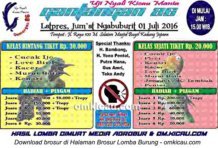 Brosur Latpres Jumat Ngabuburit Gantangan 86, Jepara, 1 Juli 2016