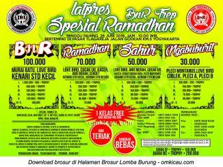 Brosur Latpres Ramadhan BnR Tlagareja Spesial Ramadhan, Jogja, 26 Juni 2016