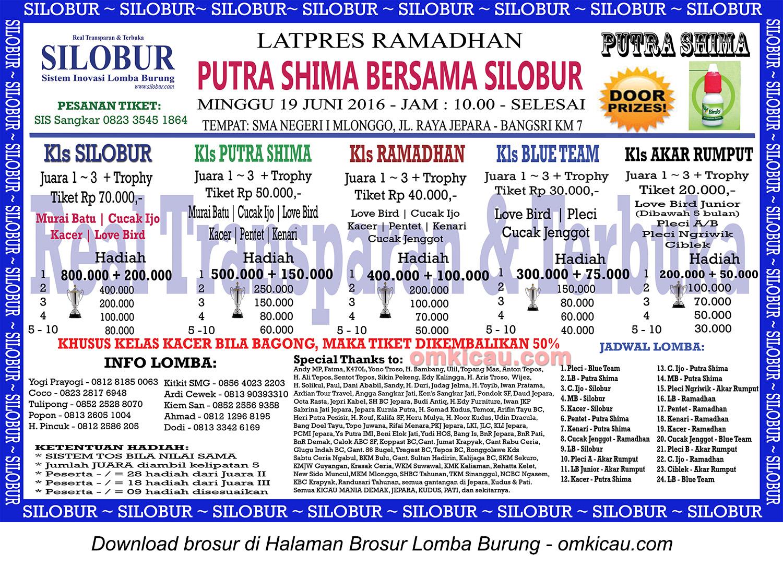 Brosur Latpres Ramadhan Putra Shima bersama Silobur, Jepara, 19 Juni 2016