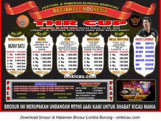 Brosur Revisi Lomba Burung Berkicau THR Cup, Bekasi Barat, 26 Juni 2016