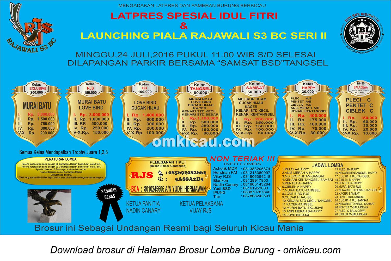 Brosur Latpres Spesial Idul Fitri Rajawali S3 BC, Tangerang Selatan, 24 Juli 2016