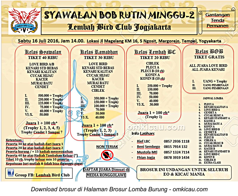 Brosur Latpres Syawalan BOB Lembah BC, Jogja, 16 Juli 2016