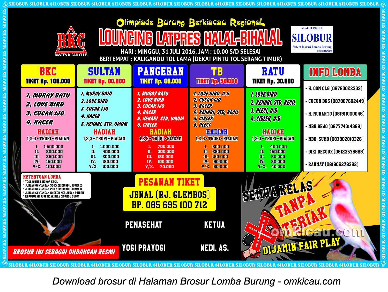 Brosur Launching Latpres Halal Bihalal BKC, Serang, 31 Juli 2016