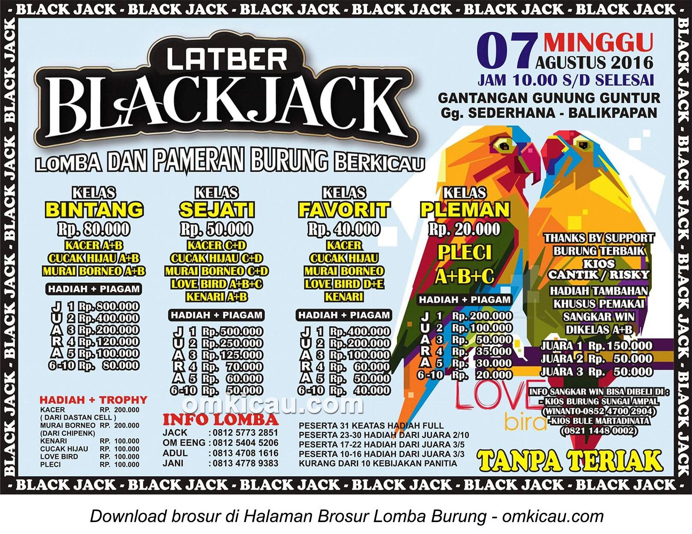 Brosur Latber Burung Berkicau BlackJack, Balikpapan, 7 Agustus 2016