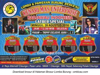Brosur Latber Spesial Kenari Mas - Radjawali Indonesia, Cileungs, 28 Agustus 2016