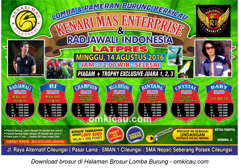 Brosur Latpres Kenari Mas Enterprise dan Radjawali Indonesia, Cileungsi, 14 Agustus 2016