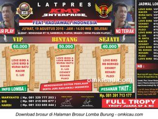 Brosur Revisi Latpres KMP Enterprise feat Radjawali Indonesia, Sragen, 19 Agustus 2016