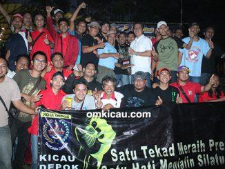 Kicau Depok Bersatu juara BC