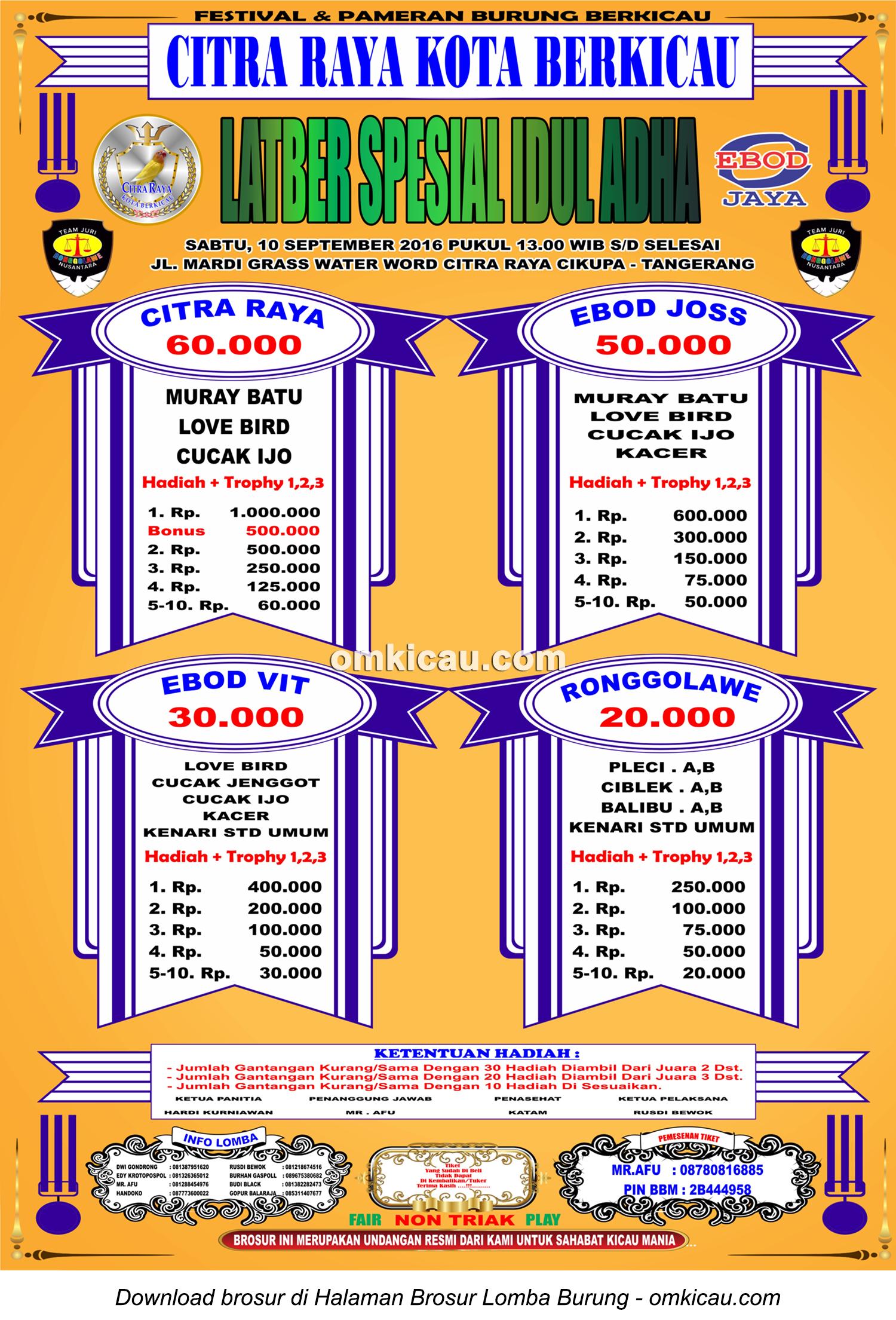 Brosur Latber Spesial Idul Adha Citra Raya, Tangerang, 10 September 2016
