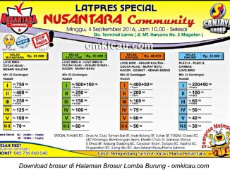 Brosur Latpres Special Nusantara Community, Magetan, 4 September 2016