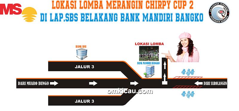 Denah lokasi lomba Merangin Chirpy Cup II