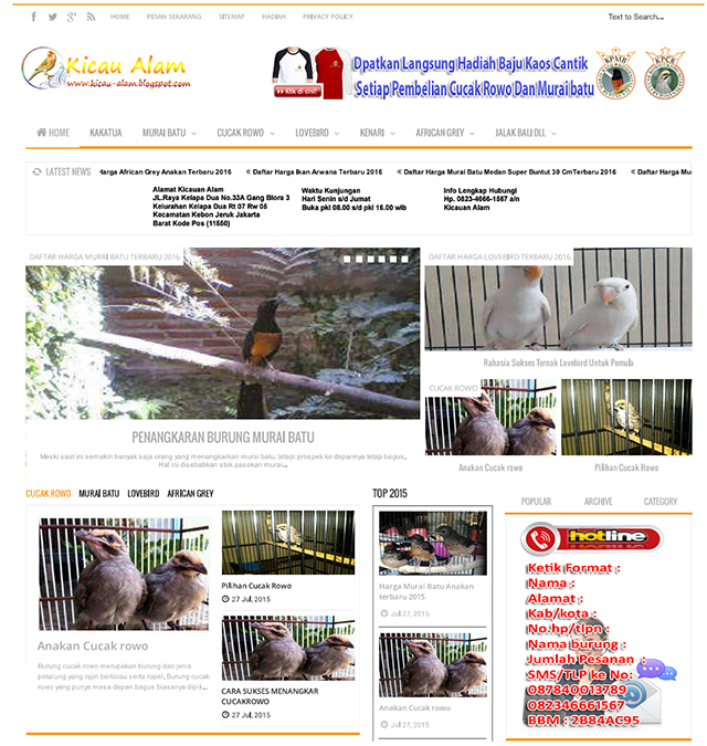Screenshoot blog kicauan-alam