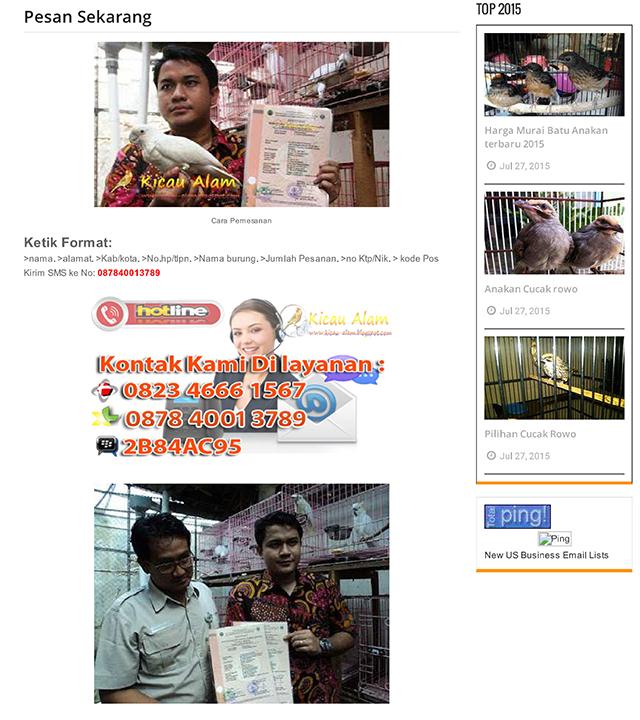 Screenshoot blog kicauan-alam