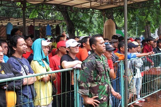Om Hasto yang siap menenangkan peserta lomba KM