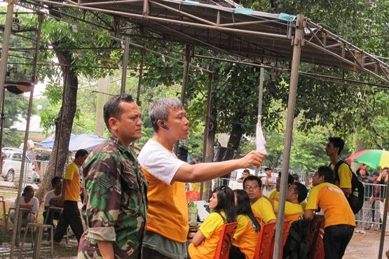 Yogi Prayogi saat bertugas di Pemilu KM