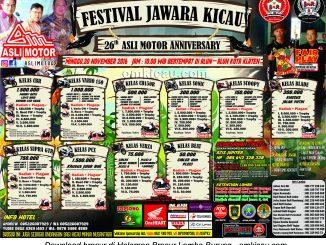 Brosur Festival Jawara Kicau 26th Asli Motor Anniversary, Klaten, 20 November 2016