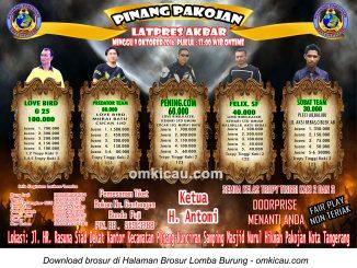 Brosur Latpres Akbar Pinang Pakojan Enterprise, Tangerang, 9 Oktober 2016