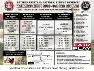 Brosur Latpres Gantangan Lembu Suro - BnR Cabang Boyolali, 1 November 2016