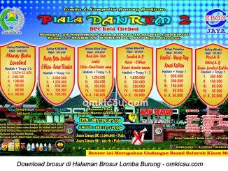 Brosur Lomba Burung Berkicau Piala Danrem 2, Cirebon, 20 November 2016