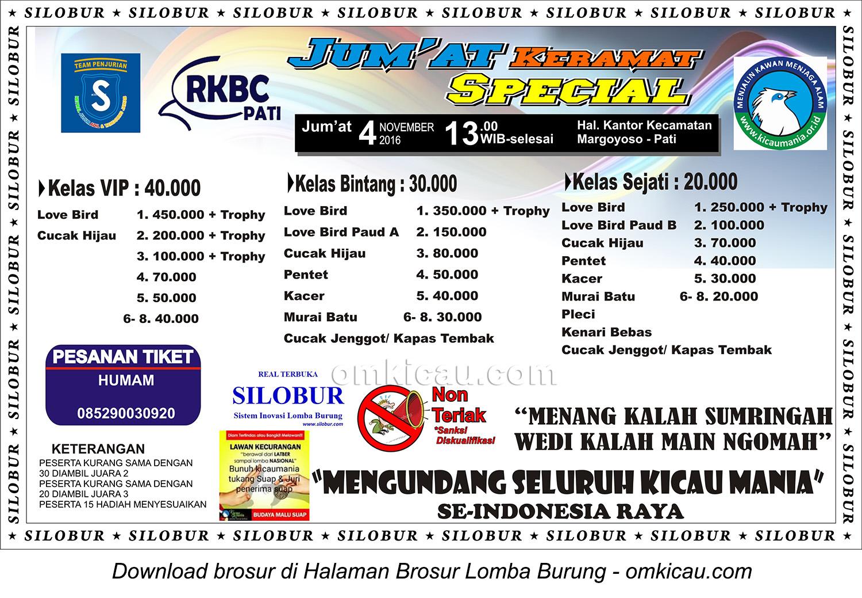 Brosur Revisi Latpres Special Jumat Keramat RKBC, Pati, 4 November 2016