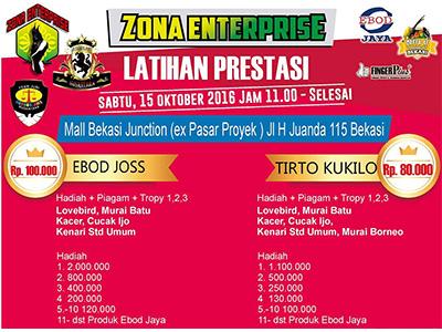 Brosur Latihan Zona Prestasi Zona Enterprise, Bekasi, 15 Oktober 2016