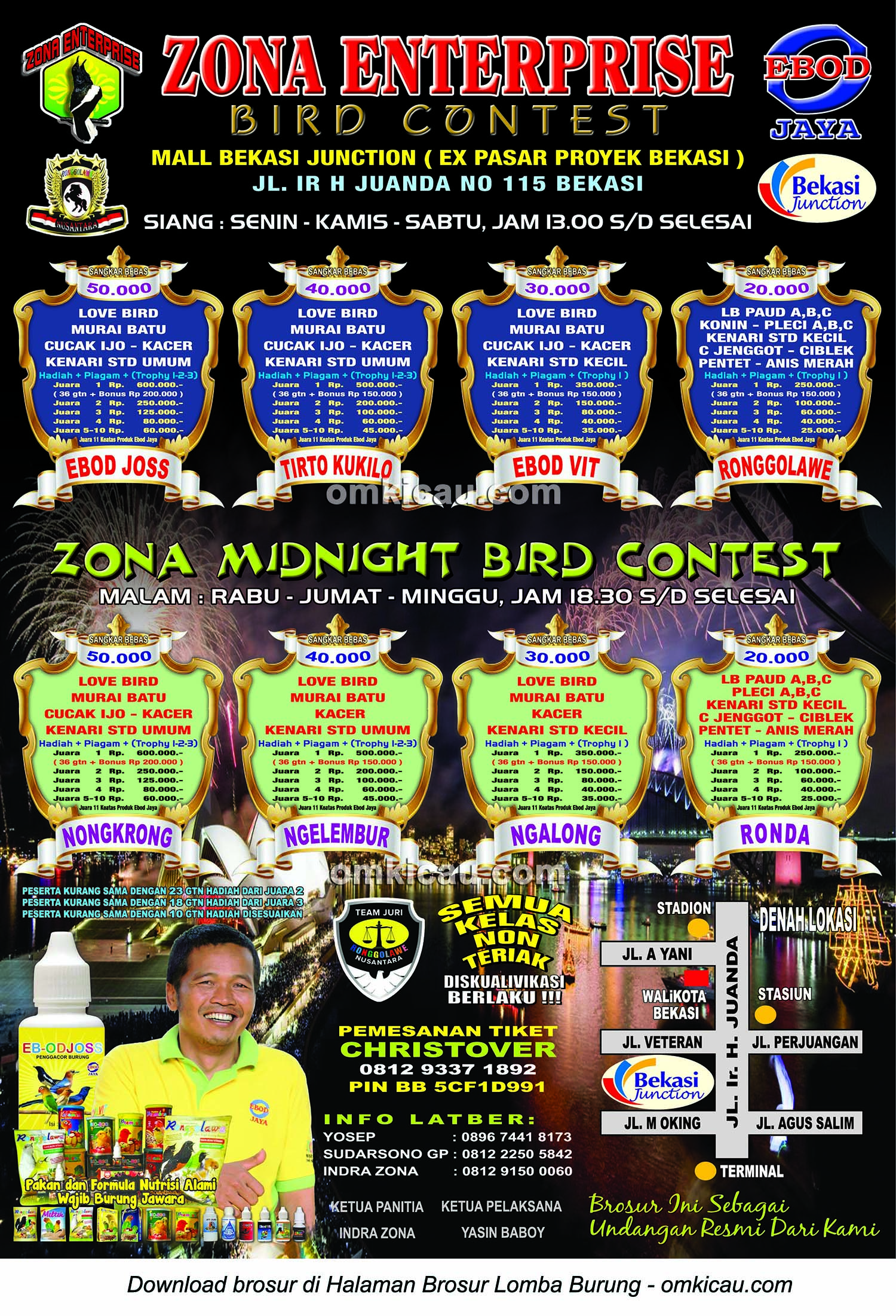 Jadwal kegiatan Zona Midnight Bird Contest