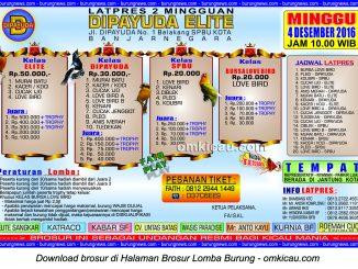 Brosur Latpres Burung Berkicau Dipayuda Elite, Banjarnegara, 4 Desember 2016